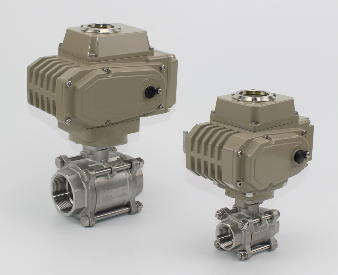 3PC Ball Valve With Electric Actuator