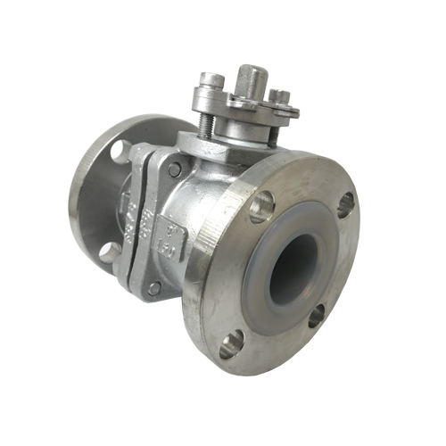 PFA Lined Flanged Ball Valve Stainless Steel