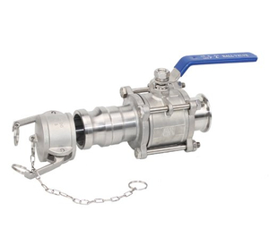 3PC Stainless Steel Clamp Ball Valve with a Quick Joint
