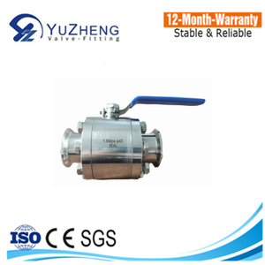 High Pressure Forged Stainless Steel 304/316 3PC Ball Valve Clamp