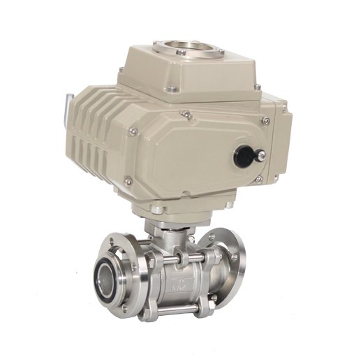 3PC Stainless Steel Vacuum Ball Valve with Pad with Actuator