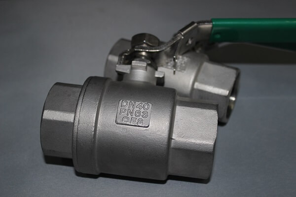 Industrial 2PC Stainless Steel Thread Ball Valve