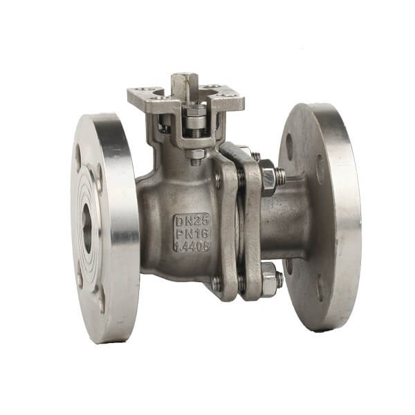 DIN Stainless Steel Flange Ball Valve With ISO5211 Pad