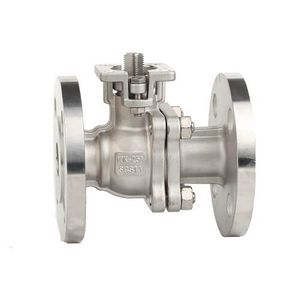JIS Stainless Steel Flange Ball Valve With ISO5211 Pad