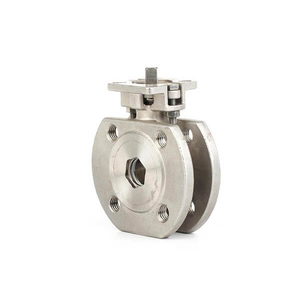 Industry Stainless Steel Italy Wafer Type Ball Valve With ISO5211 PAD V-Ttpe Ball