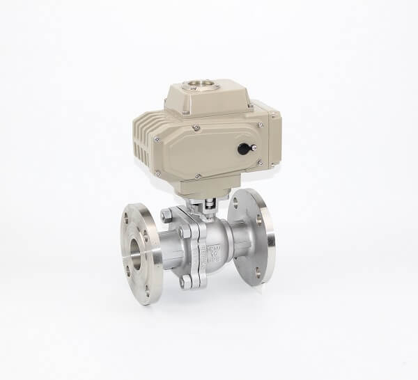 2PC Stainless Steel Ball Valve Flanged End With Pneumatic Actuator
