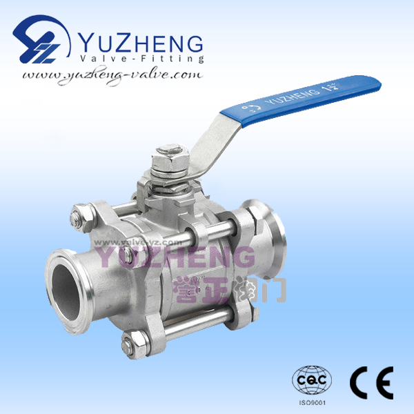 3PC Stainless Steel Clamp End Ball Valve
